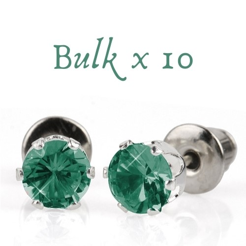 BULK PACK - 10 x 5mm Birthstone Earrings (December) - Great Gift Idea
