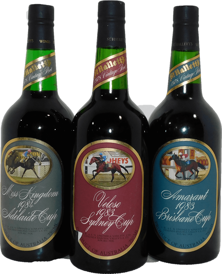 Pack of Assorted St Hallett Cup Series Vintage Port 1978 (3x 750mL)
