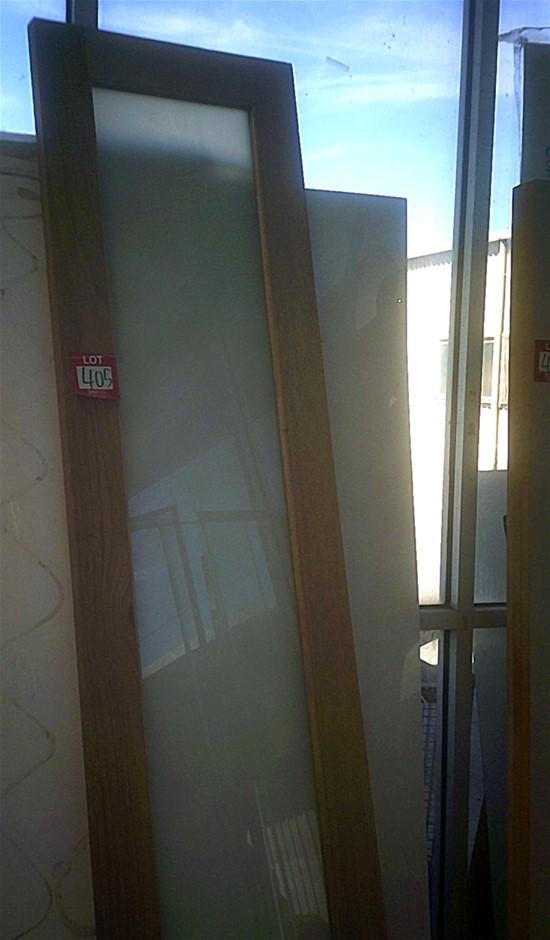 Glazed Hardwood Door. 2340mm x 620mm