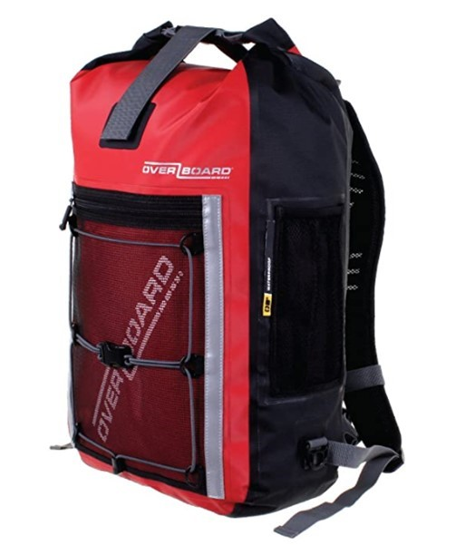 Overboard Pro Sports Waterproof Backpack, 30 Litre Capacity, Red