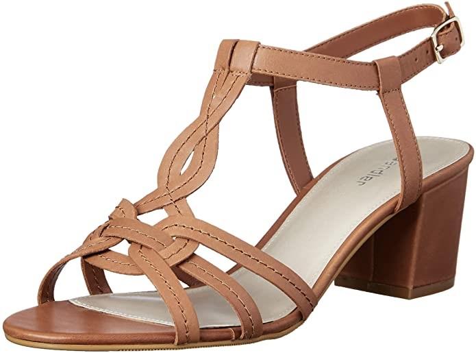 SANDLER Women`s Avenue Fashion Sandals, Color: Cognac Glove, Size: 7.5 AU.