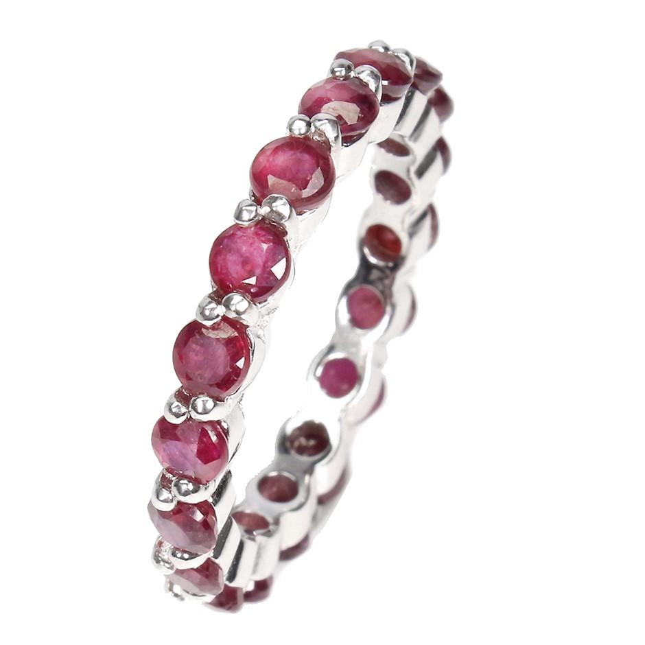 Beautiful Genuine Ruby Eternity Band Ring