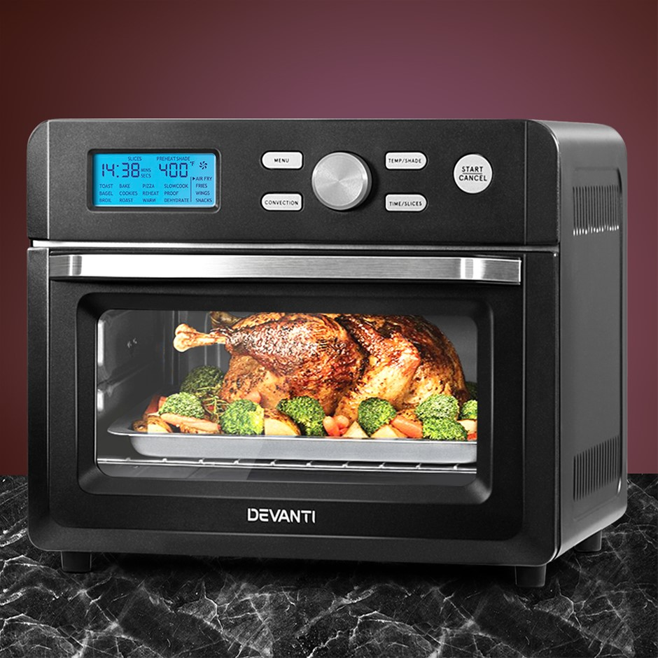 Devanti 20L Air Fryer Convection Oven Oil Free Fryers Kitchen Accessories