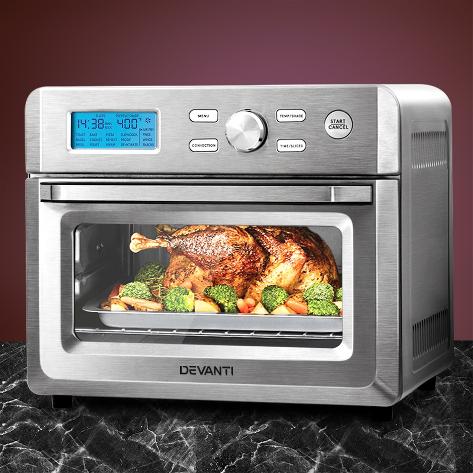 Devanti 20L Air Fryer Convection Oven Oil Free Fryers Cooker Accessories