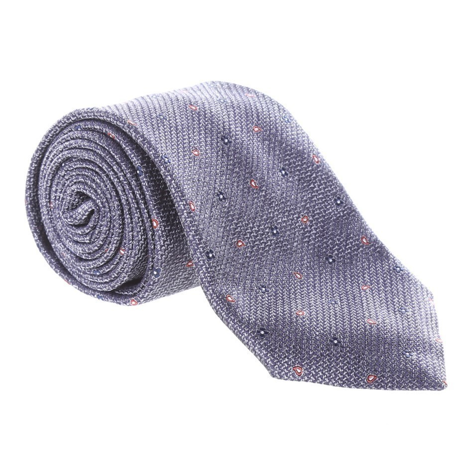 MILANA Small Dot Grid Tie Colour: Grey. Buyers Note - Discount Freight Rate