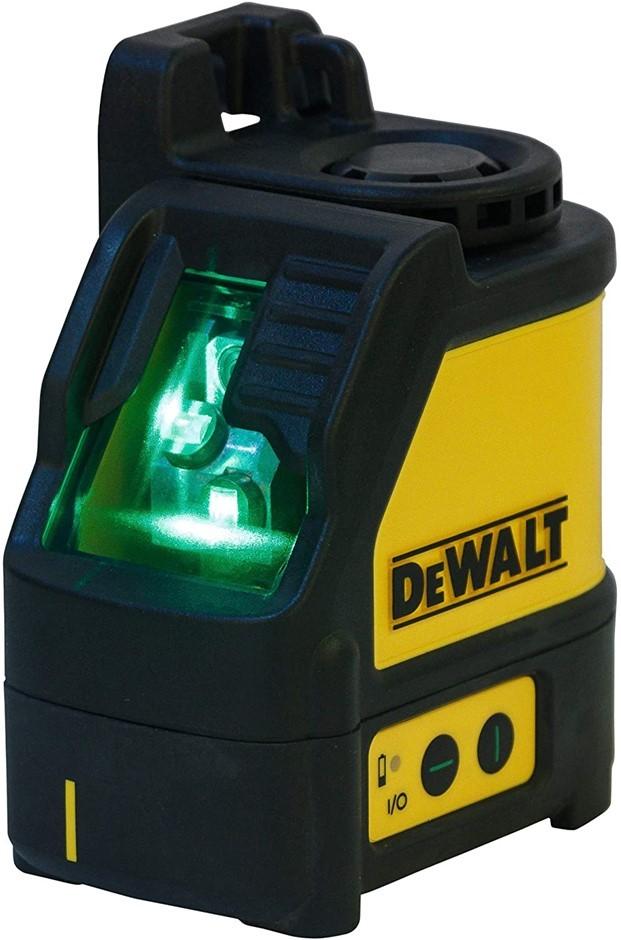 DEWALT Green Beam Cross Line Laser with Carry Case, Yellow/ Black. N.B. Pow