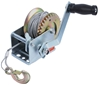 Gear Hand Winch 270kg Capacity c/w 8M Wire Rope and Hook. Buyers Note - Dis