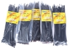 5 Packs Of Cable Ties Each 100pcs, Size 3.6mm x 200mm, Black. Buyers Note -