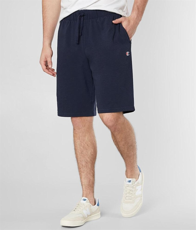 CHAMPION Men`s Jersey Shorts, Size M, Cotton, Navy. Buyers Note - Discount