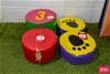 Kids Padded 6x Assorted Step Pads Soft Active Play Toy