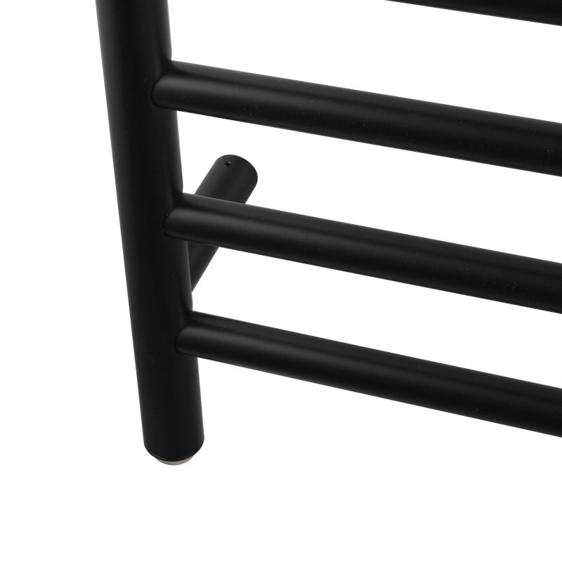 820x600x120mm Round Black Electric Heated Towel Rack 8 Bars Stainless Steel
