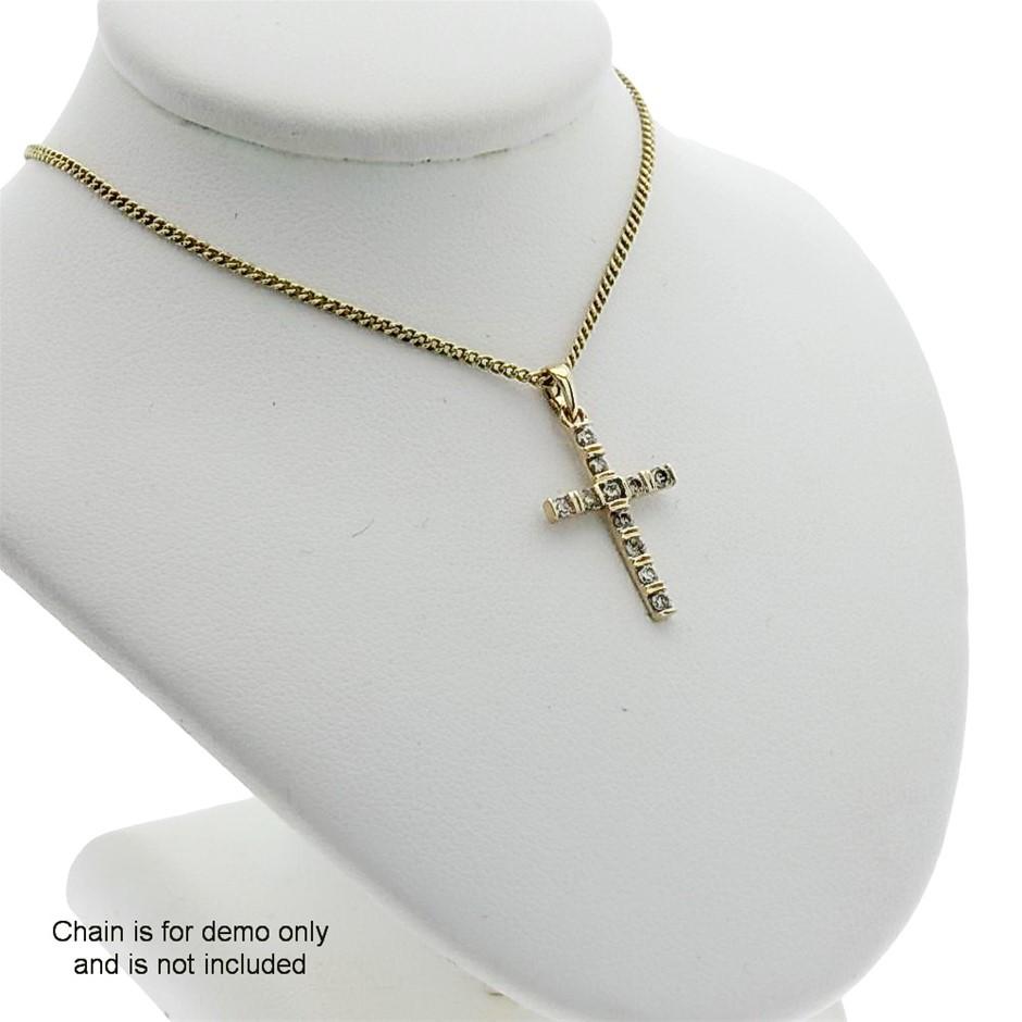 9ct Yellow Gold, 0.26ct Diamond Pendant