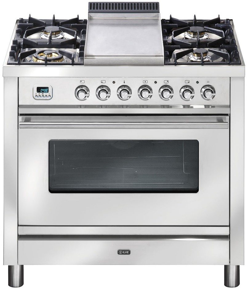 ILVE PW90FMP/1 90cm Single Electric Oven & Cooktop with Grill