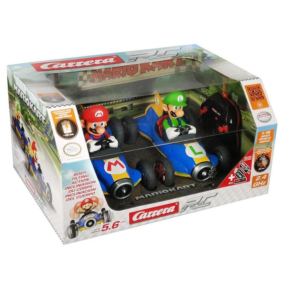 CARRERA Mario Kart & Luigi Remote Control Cars - 2 pack. N.B Not in origina