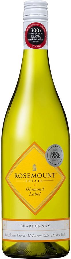 Rosemount Diamond Label Chardonnay 2020 (6x 750mL), AUS