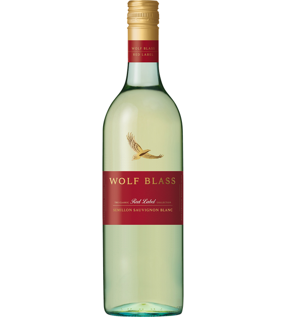 Wolf Blass Red Label Semillon Sauvignon Banc 2020 (6x 750mL), AUS