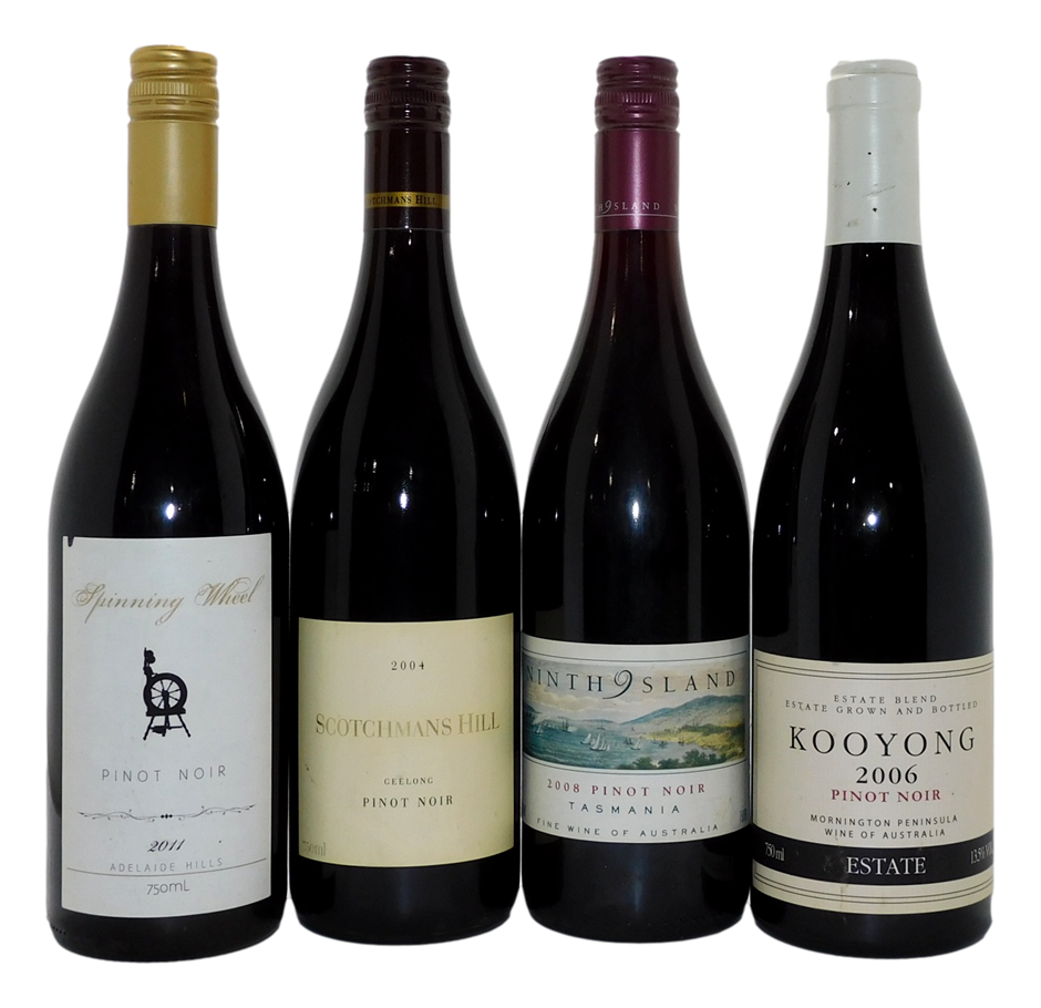 Mixed Pack of Australian Pinot Noir (4x 750mL), VIC/SA/TAS