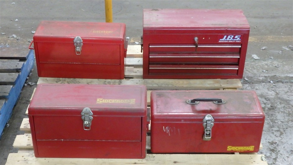 4 x Assorted Steel Toolboxes