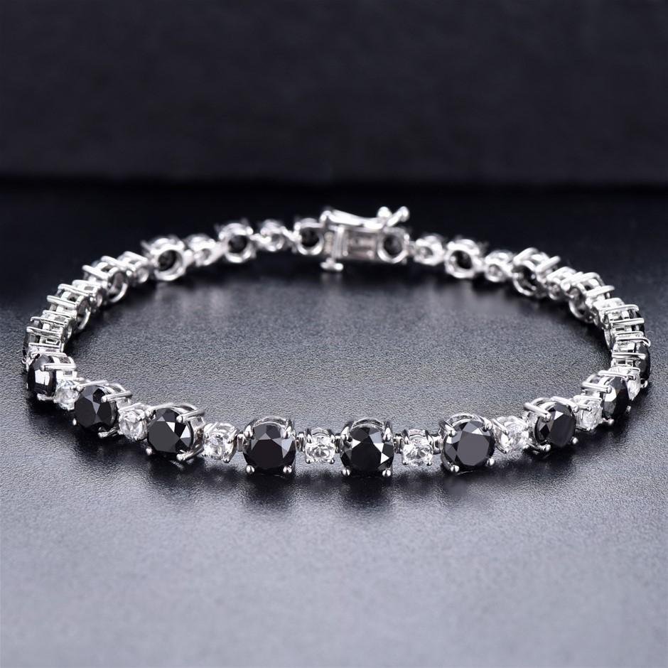 14ct White Gold, 11.10ct Diamond Bracelet