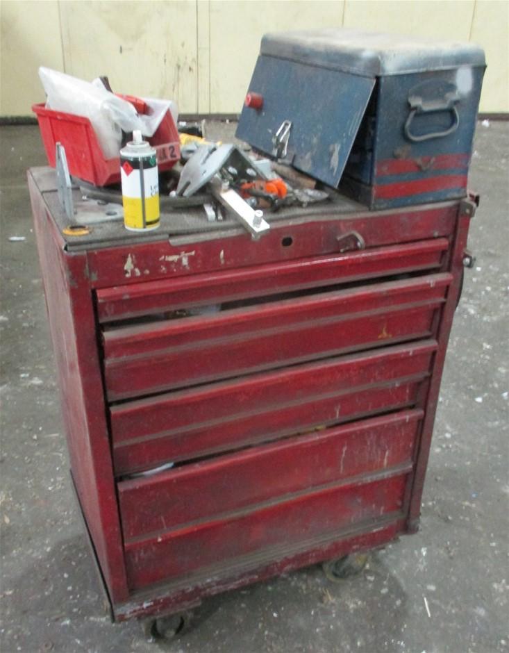 Steel 7 Drawer Tool Trolley