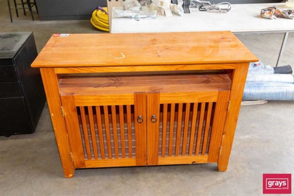 Timber 2 Door Cabinet with under Shelf