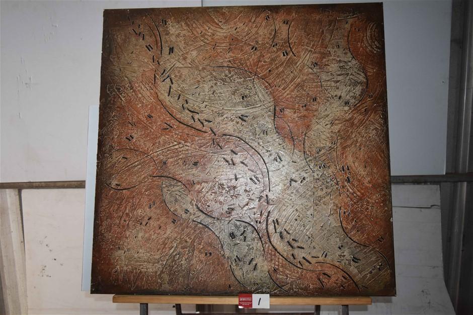 "Acrylic on Canvas ""Morning at Kokerbin Rock"""