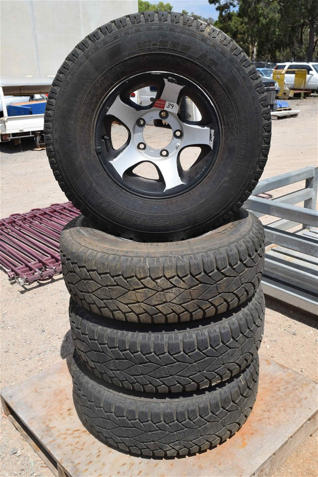 """Lot of 4 """"Ecovision"""" 4WD Tyres on """"ROH"""" Mag Rims"""