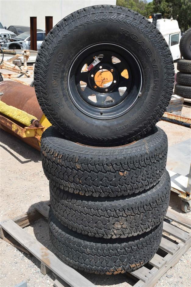 Set of 4 ``Kumho`` Road Venture 4WD AT51