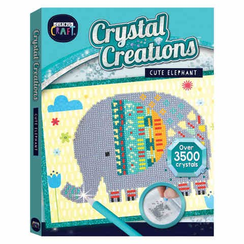 4 x CURIOUS CRAFT Crystal Creations, Cute Elephant. Buyers Note - Discount
