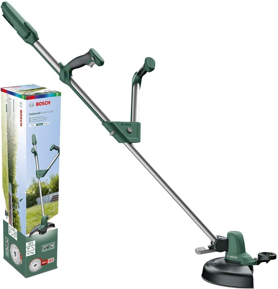 BOSCH Cordless Line Grass Trimmer, 26cm Cutting Diameter 18V. SKIN ONLY. (S