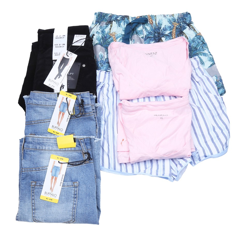 Bag of Mixed Women`s Clothing, Comprised: Buffalo & Advent, Size XS. Buyers