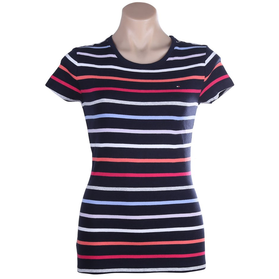 2 x TOMMY HILFIGER Womens Fave Lara Tee, Size S, 100% Cotton Navy. Buyers N