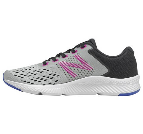 NEW BALANCE Womens Running Sneakers, Size US 7, Colour: Grey/ Black /Purple