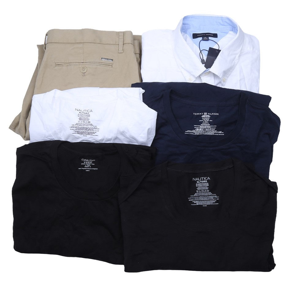 6 x Mixed Men`s Clothing, Comprised: Tommy Hilfiger, Calvin Klein & More, S