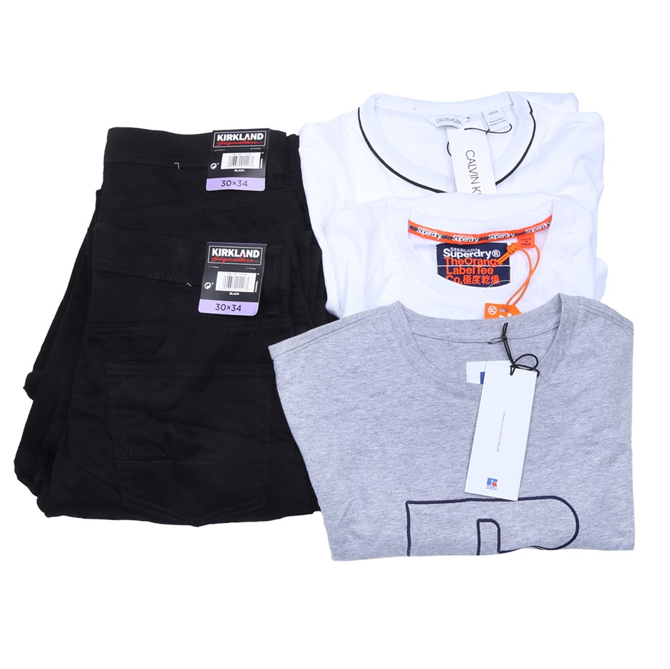 5 x Mixed Men`s Clothing, Comprised: Calvin Klein, Superdry & More, Size S.
