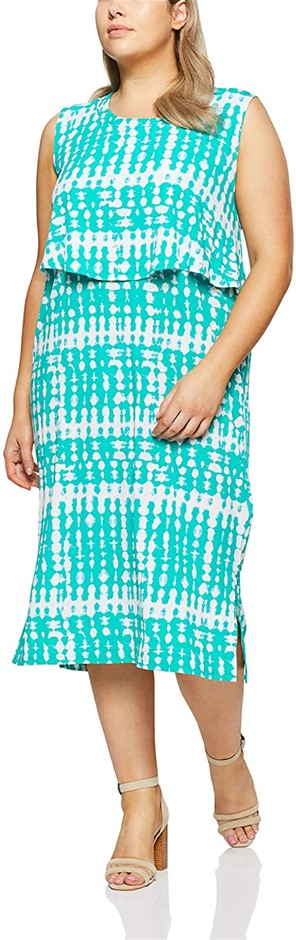 MY SIZE Women`s Plus Size Palm Cove Abstract Maxi, Color Green, Size L Buye