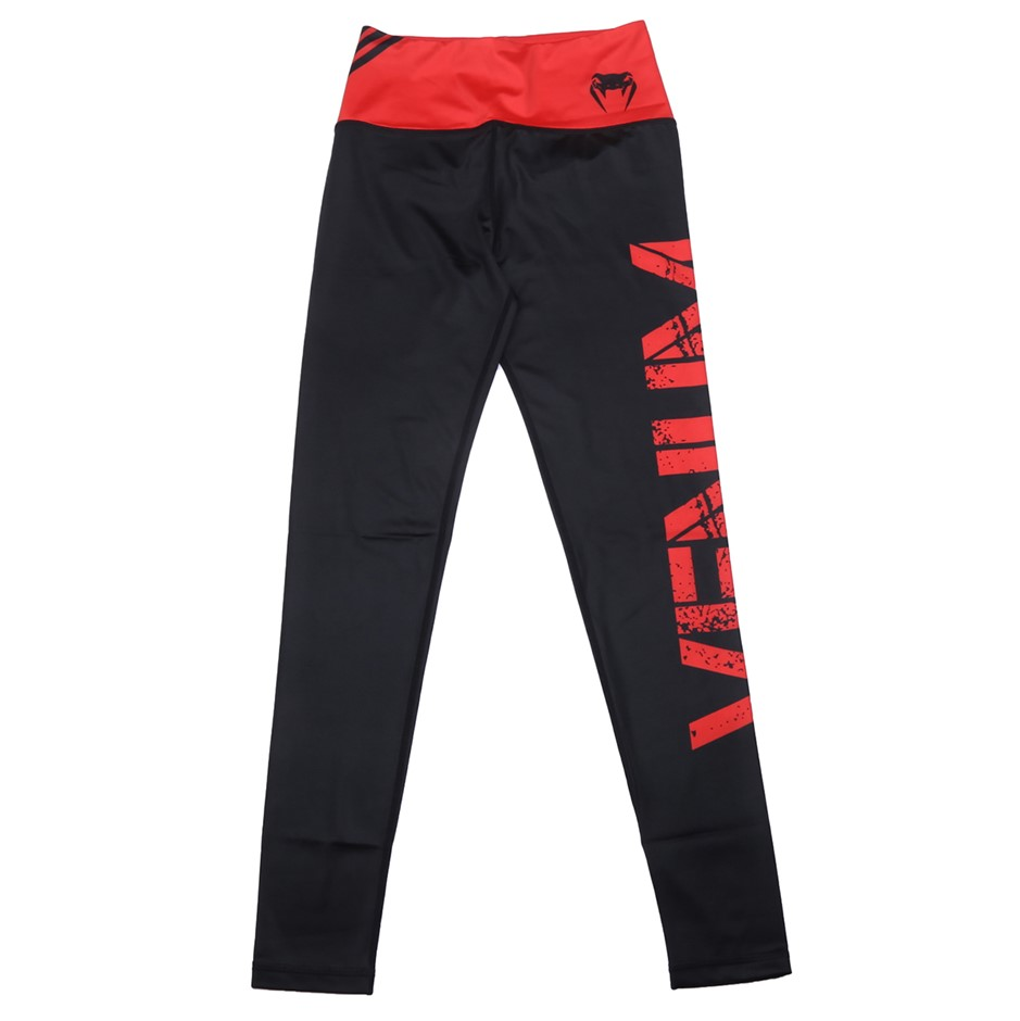 VENUM Womens Power Leggings, Colour Black/Red, Size S. Buyers Note - Discou