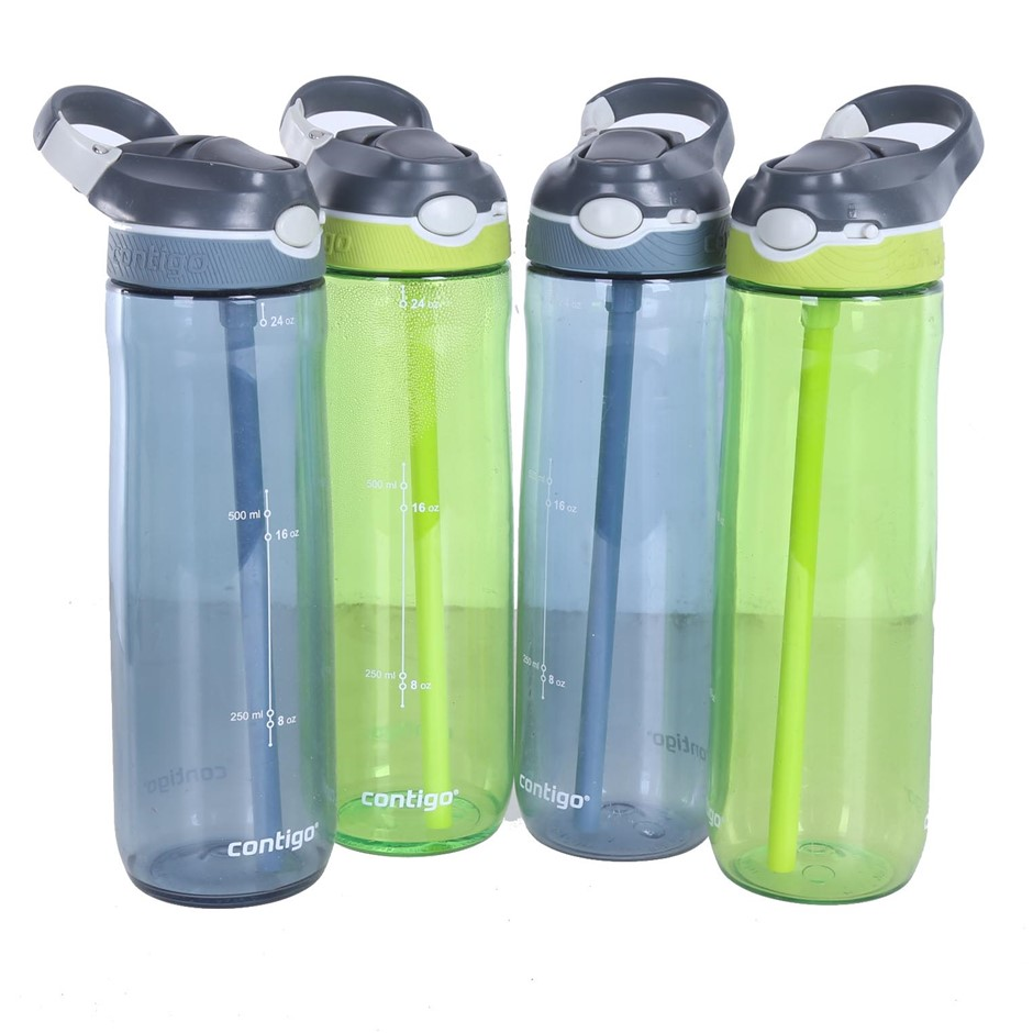4 x CONTIGO Water Bottles, BPA Free, 700mL. N.B. Has been used. (SN:CC69364