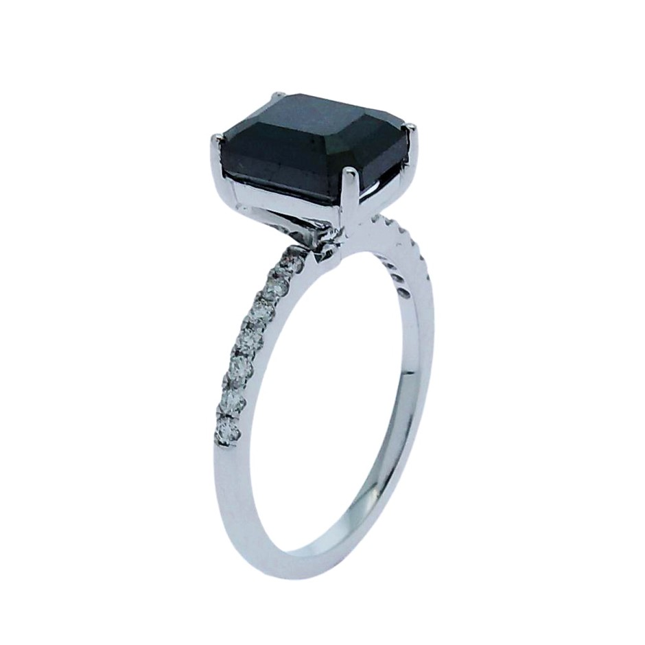 18ct White Gold, 3.85ct Diamond Engagement Ring