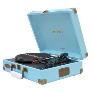 mbeat Woodstock 2 Sky Blue Retro Turntab