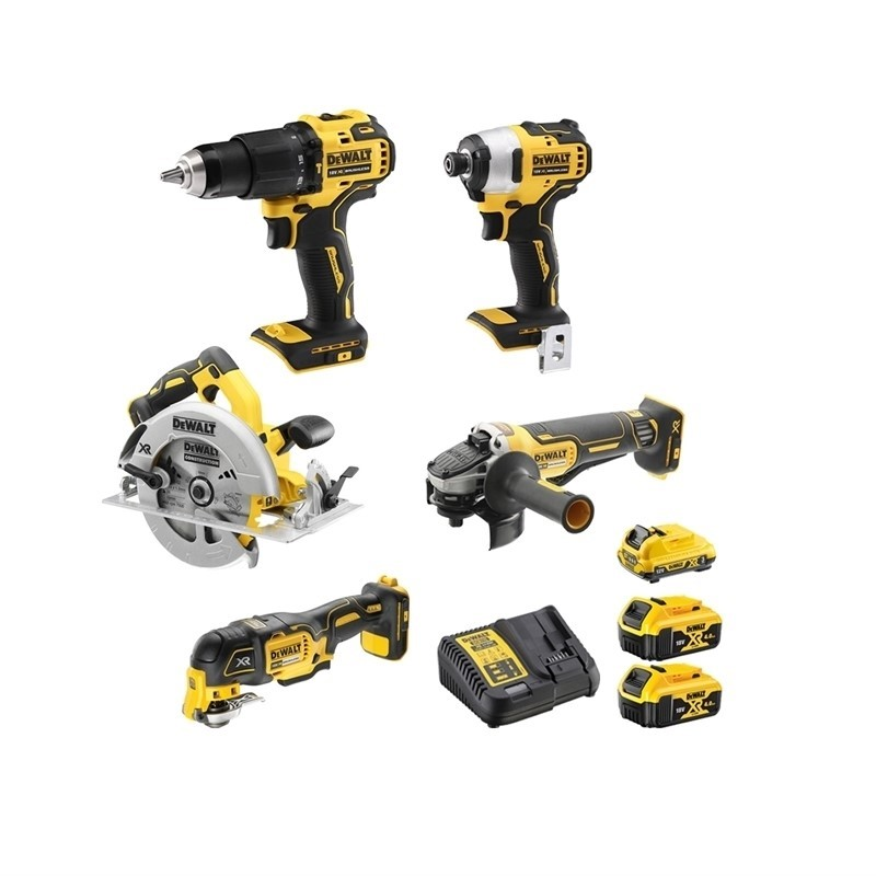 DEWALT 18V 5pc Brushless Kit. Includes: Compact Hammer Drill Driver, Impact