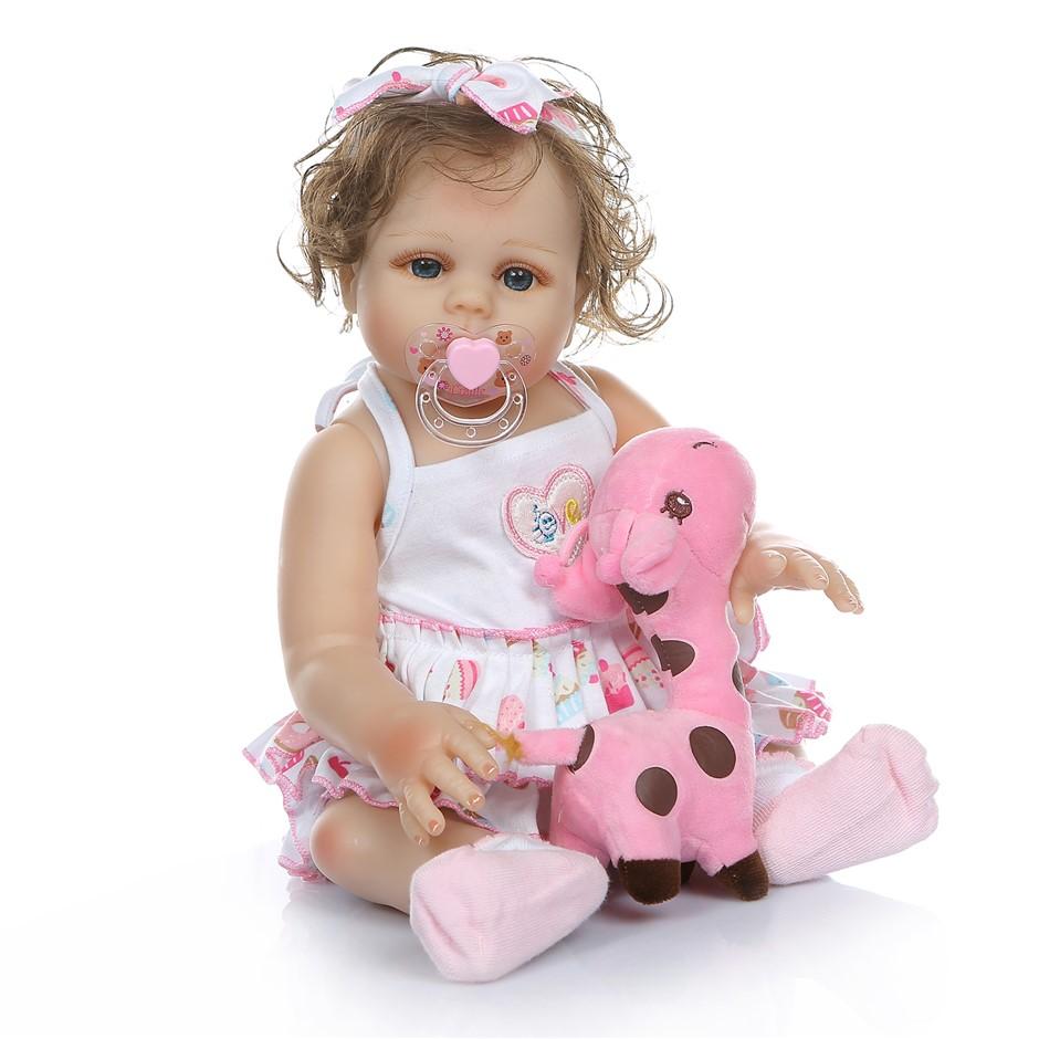 48cm Reborn Doll Real Life Baby Girl Silicone Cute Vinyl Realistic Newborn