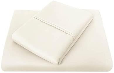 Bambury 1000 Thread Count Sheet Set, Queen, Ivory