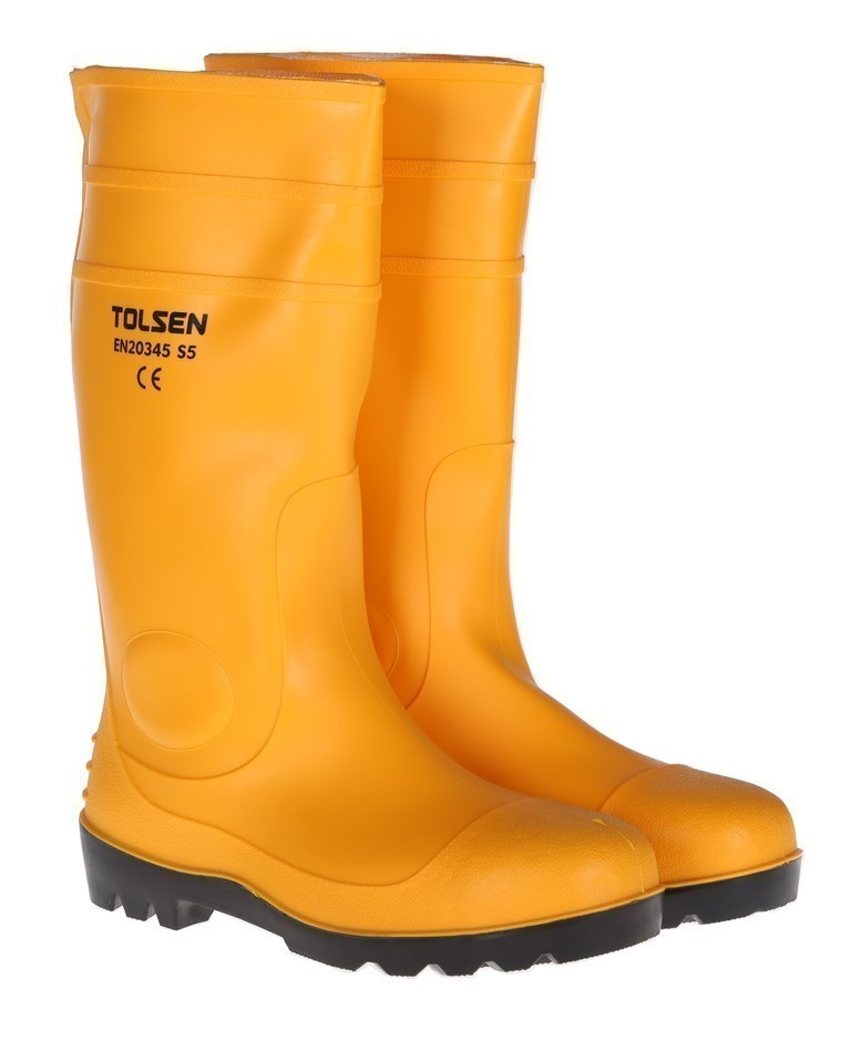 Pair TOLSEN Safety Gum Boots, UK Size 11, US Size 12. Buyers Note - Discoun