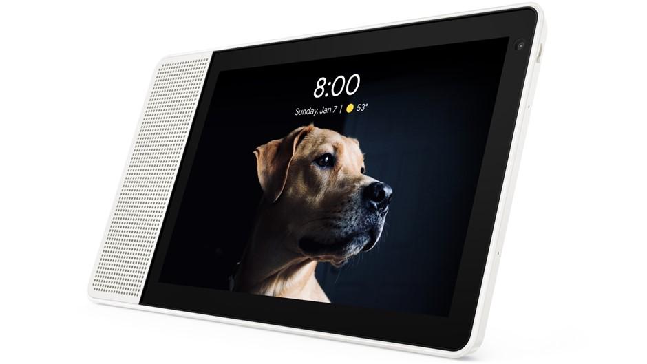 Lenovo Smart Display - 10`` White/Bamboo