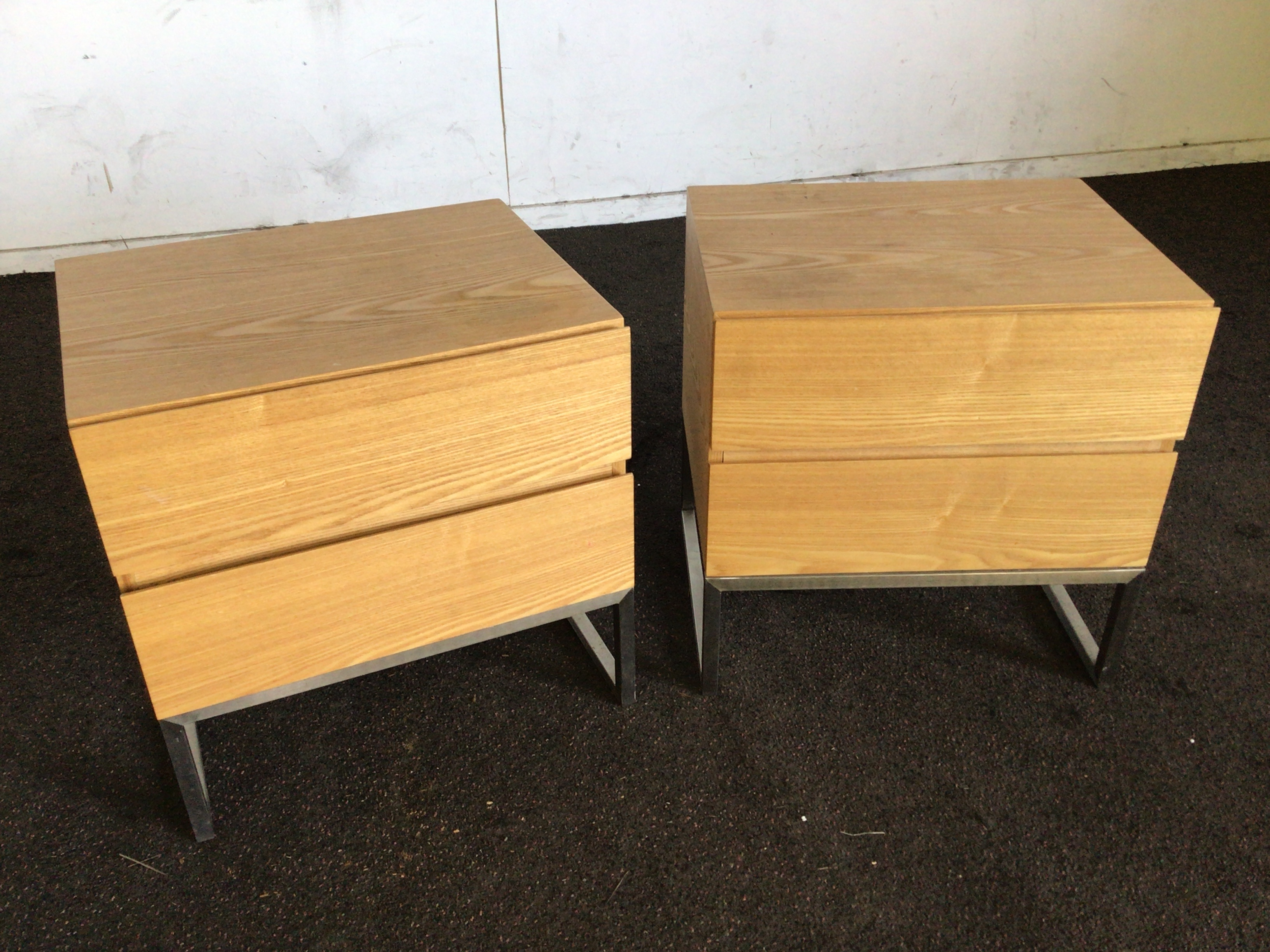 2 x Timber Bedside Tables