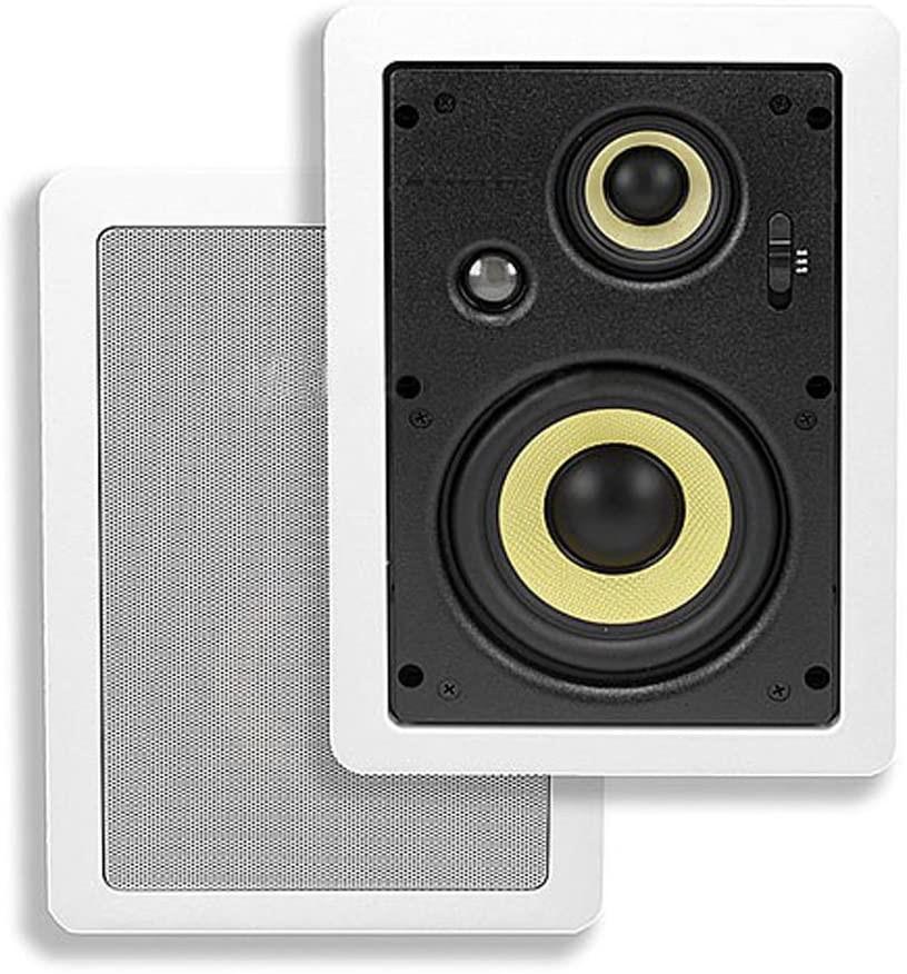 Monoprice 3-Way Aramid Fiber in-Wall Speakers - 5.25 Inch (Pair)