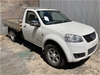 2013 Great Wall V200 4X4 Turbo Diesel Manual Cab Chassis (WOVR)
