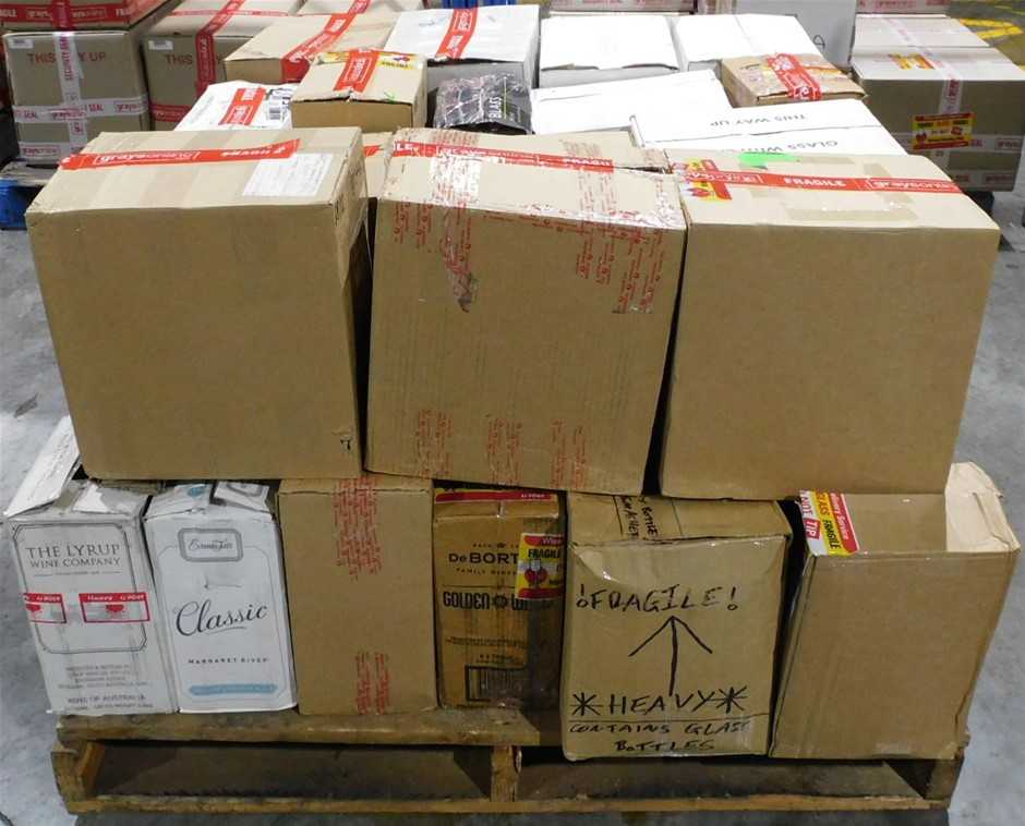 Pick Up Only A Mixed Pallet of Wine - Approx 31 Assorted Cartons of Wine