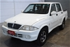 2006 Ssangyong Musso Sports (4x4) Turbo Diesel Manual Ute